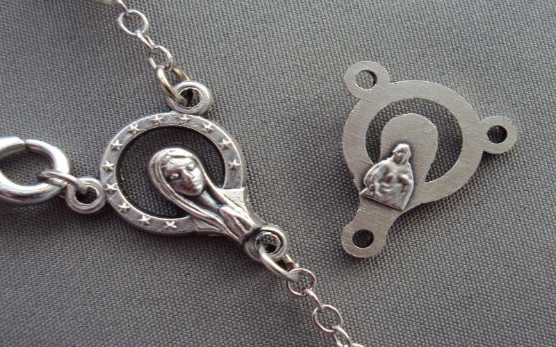 Herzstueck Madonna in Silber