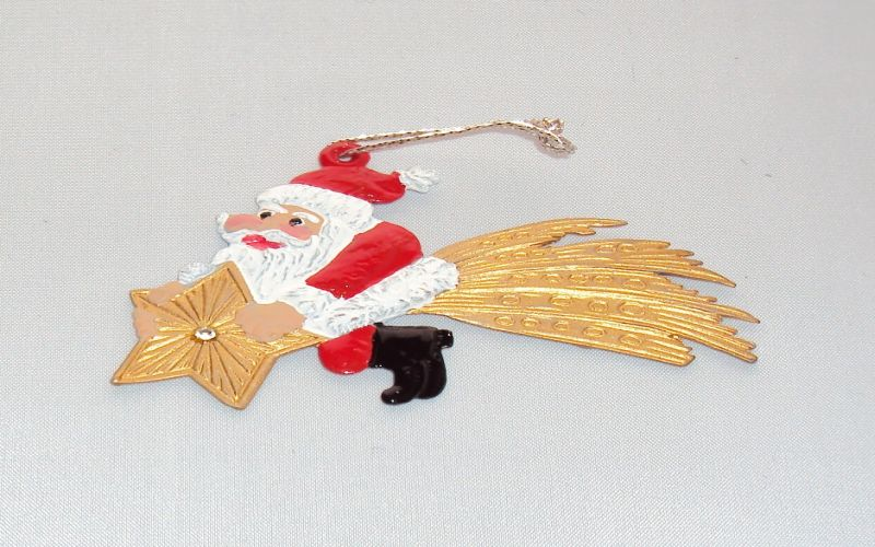 Nikolaus auf Stern bemalt