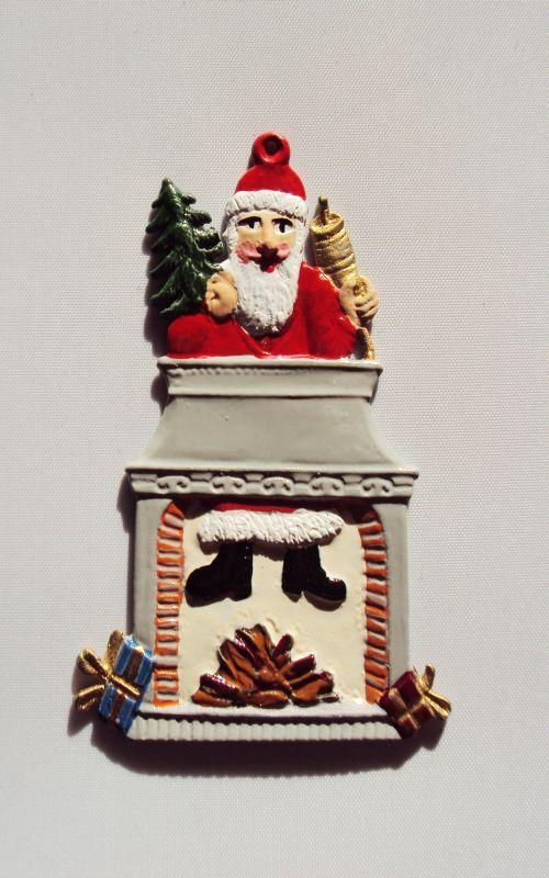 Nikolaus im Kamin bemalt